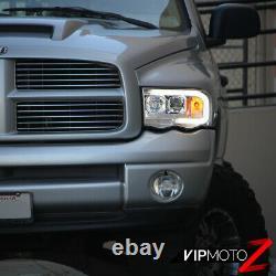 02-05 Dodge RAM Pickup 1500 2500 3500 LED Bar Neon DRL Tube Projector Headlight