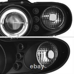 04 05 06 Pontiac GTO Black LED Halo Angel Eye Projector Headlight Lamp LS1 LS2