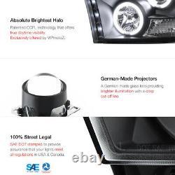09-18 Dodge RAM 1500 2500 3500 CCFL Halo Angel Eye LED Projector Headlight PAIR