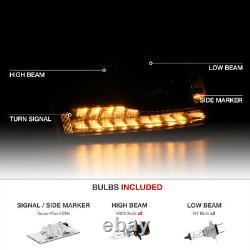 13-18 Dodge Ram 1500/2500/3500 Factory Style Black LED DRL Projector Headlight