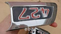 1967 1972 Chevy Truck 427 HOOD SIDE EMBLEMS Original GM pair C50 C60