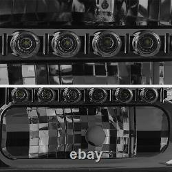 1999-2004 Ford F250 F350 F450 SD SuperDuty Smoke BRIGHT LED Headlight Assembly