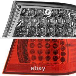 2002-2005 BMW E46 3-Series 325 330 Sedan Factory RED LED Tail Lights Lamp Pair