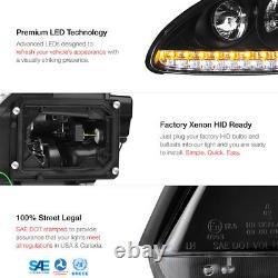 2003-2006 Porsche Cayenne 955 Xenon HID Black LEFT RIGHT Headlights Lamp LED DRL