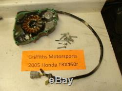 2004 2005 HONDA TRX450R FOURTRAX oem stator generator ignition side cover engine