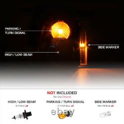 2007-2014 GMC Yukon XL 1500 Denali Black Front Headlights Assembly LEFT+RIGHT