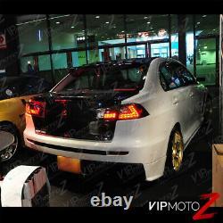 2008-2017 Mitsubishi Lancer Evolution Evo X 4B11 GSR MR Black LED Taillight Lamp