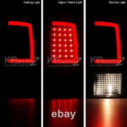 2009-2018 Dodge Ram 1500 2500 3500 FiBer OptiC Sinister Black LED Tail Lights