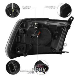 2009-2018 Dodge Ram 1500 2500 3500 HIGH OUTPUT LED Black Headlights Assembly