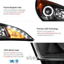 2010 2011 2012 Genesis 2 Door Coupe Black Halo LED Projector Headlights Headlamp