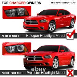 2011-2014 Dodge Charger BLACK BEAST Neon Tron Tube Projector Headlight Lamps