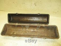 49 50 51 52 53 54 55 Cadillac Engine Motor Cylinder Head Valve Covers Script