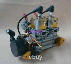 52CC Inline Twin Left Side Exhaust Marine Engine For RC Boat QJ ZENOAH RCMK