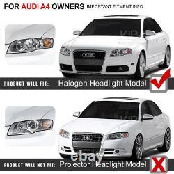 Audi 06-08 B7 A4/S4 LED Strip DRL Projector Headlight Signal Lamp Upgrade Black
