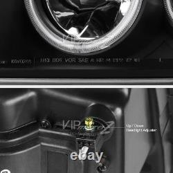 Bright CCFL Halo Ring 07-11 Dodge Nitro Projector LED DRL Headlight Lamp Pair