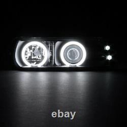 Chevy Silverado/Tahoe/Suburban BRIGHT CCFL Halo LED Projector Black Headlight