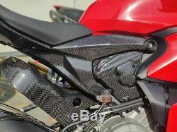 Ducati Panigale 899 1199 V2 carbon fiber side panels frame engine cover Kit