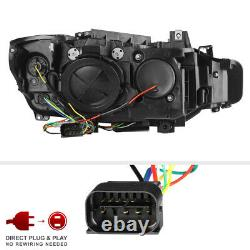 F32 M3 STYLE For 12-15 BMW F30 4DR 328i 335i Dual LED Halo Projector Headlight