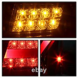 For 02-05 BMW E46 3-Series Sedan LED STRIP Red Clear Tail Light Lamp Pair LH RH