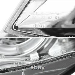 For 02-05 BMW E46 325 330 4-DR Sedan LED Angel Eye Halo Projector Headlight Lamp