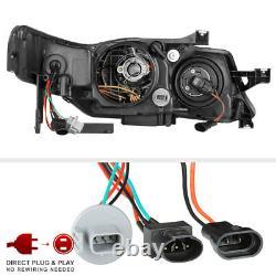 For 04-08 Acura TL HID Xenon Model LED Neon Tube Projector Headlight Black L+R