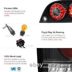 For 04-08 Mazda RX8 RX-8 SE3P Shinka Nemesis JDM Black LED Tail Light Brake Lamp
