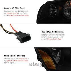 For 05-07 Dodge Magnum SE SRT SXT RT SINISTER BLACK Smoke Headlights Assembly