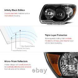 For 06-09 Toyota 4Runner 4 Runner TRD STYLE Crystal Black Headlights Assembly