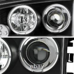 For 06-10 Dodge CHARGER Halo Angel Eye LED Projector Black Headlight Signal Lamp