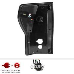 For 07-13 Toyota Tundra Black Smoke Dual LED Neon Tube Brake Light Tail Lamp