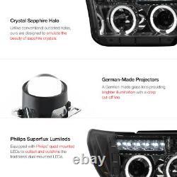 For 07-13 Toyota Tundra Pickup Truck SMOKE Halo LED Projector Headlight Headlamp