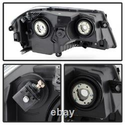 For 08-14 Dodge Avenger Black Front Signal Replacement Headlight LH+RH Assembly