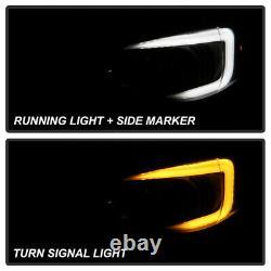 For 08-14 Subaru WRX Halogen Switchback LED Tube Black Smoke Projector Headlight
