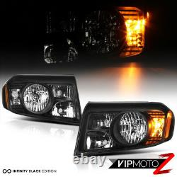 For 09-11 Honda Pilot Black Factory Replacement Headlights Headlamps Left Right