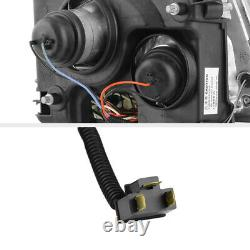 For 97-00 Toyota Tacoma Pickup Truck Black Halo Angel Eye Projector Headlight