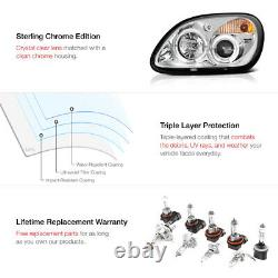For 98-04 R170 SLK230 SLK55 AMG Euro Projector Halo Headlights Chrome Headlamps