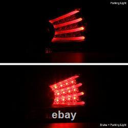 For Honda Accord 08-12 CP2/CP3 4DR LED 3D Strip Black Tail Light Rear Brake Lamp