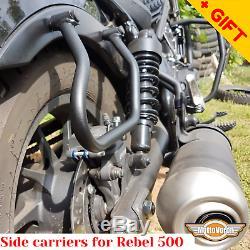 For Honda Rebel 500 Crash bars Side carriers CMX 500 Pannier rack Engine guard