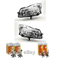 Halogen Headlight Set Vauxhall Insignia Year 07/08-09/13 H7/H1 Engine 1368938