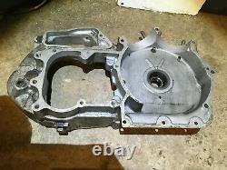 Harley Davidson 1000cc Iron Head Engine Left Crank Case Gearbox Clutch Side 1975