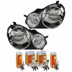 Headlight Set For VW Polo IV 4 9N Yr 01-05 Bosch / Al System H7 +H1 Incl Engines