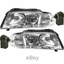 Headlight Set for Audi A4 B5 Type 8D 99-01 Limo Avant Incl. Motor Engine