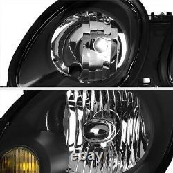 JDM Black Headlights Lamp Replacement Assembly Fit 1998-2005 Lexus GS Aristo 2JZ