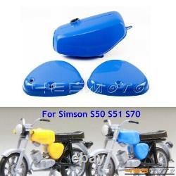 Motorcycle Fuel Gas Tank with Engine Side Covers For Simson S50 S51 S70 S 50 51 70