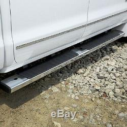 NEW OEM GM Rectangular Chrome Step Bars 84106513 Silverado Sierra Diesel 2015-19