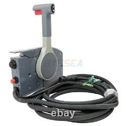 Outboard Remote Control Box for Yamaha Engine 10 Pin Cable PUSH Throttle
