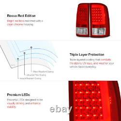 Red LED Neon Tube Tail Light Brake Signal Lamp 07-13 Sierra 1500 2500 3500 HD