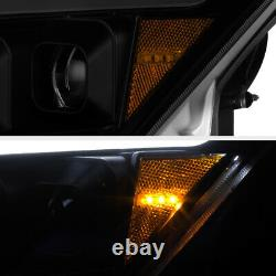 SEQUENTIAL LED SIGNAL DRL Smoke Projector Headlight Lamp for 08-15 G37 Q60 2DR