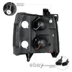 SINISTER BLACK DARKEST Smoke 07-13 Chevy Silverado PickUp Projector Headlights