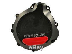 SUZUKI 2001-2003 GSXR 600 WOODCRAFT LEFT SIDE ENGINE STATOR COVER With SKID PAD